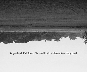 quote, world, and fall image