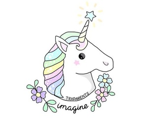 unicorn, imagine, and wallpaper image