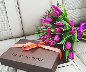 flowers, Louis Vuitton, and tulips image