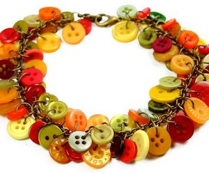 bracelet, buttons, and colorful image