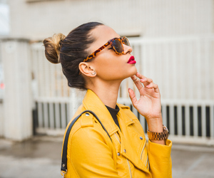 beauty, glasses, and street style image
