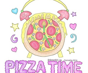 pizza, draw, and overlay image