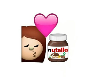 nutella, love, and emoji image