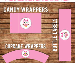 etsy, instant download, and baby girl shower image