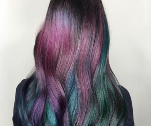 beauty, colourful, and hair image