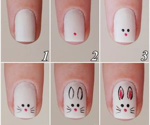 nails, nail art, and bunny image
