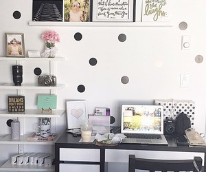 bedroom, black and white, and chic image