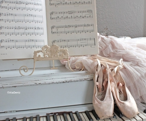 ballet, piano, and ballerina image