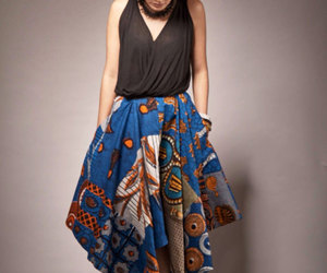 etsy, african print, and maxi skirts image