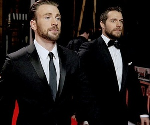 chris evans, Henry Cavill, and handsome image