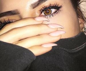 nails, girl, and eyes image