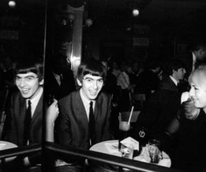 black and white, george harrison, and the beatles image