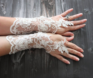 etsy, wedding, and lace gloves image
