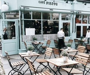 cafe, blue, and indie image