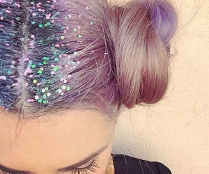 hair, glitter, and tumblr image