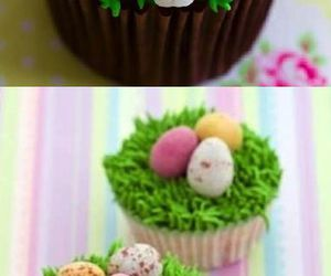 cupcake, easter, and cake image