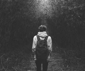 boy, alone, and black and white image