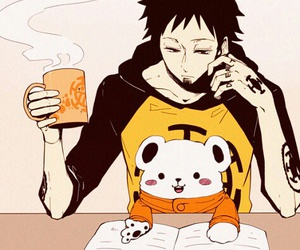 one piece, anime, and Law image