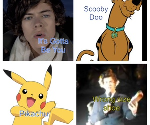 pikachu, Harry Styles, and one direction image