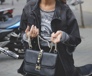 accessories, bag, and black image