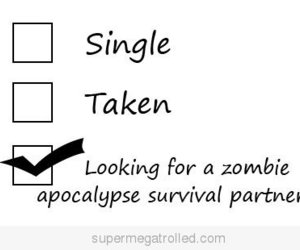 zombie, single, and taken image