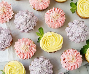 cupcake, dessert, and frosting image