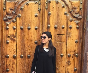 black, door, and fashion image