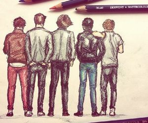 one direction, 1d, and drawing image