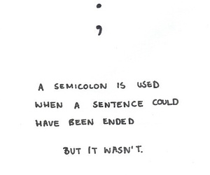 quote, semicolon, and text image