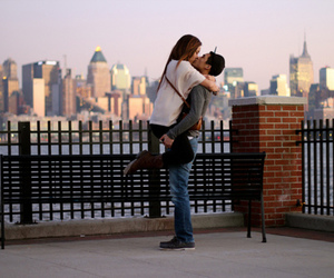 city, couple, and cuty image