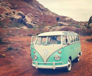 vintage, volkswagen, and blue image
