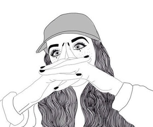 outline, tumblr, and draw image