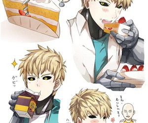 genos, anime, and one punch man image