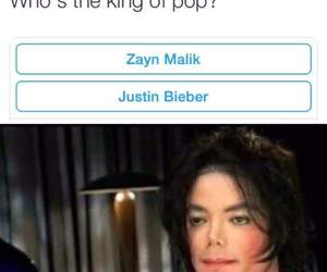 king of pop, meme, and michael jackson image