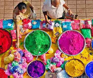colours, holi, and powder image