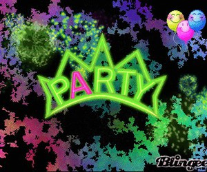 party and neon party image