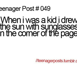 teenager post, funny, and kids image