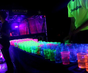 alcohol, party, and neon party image