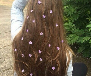 flower, hair, and cute image