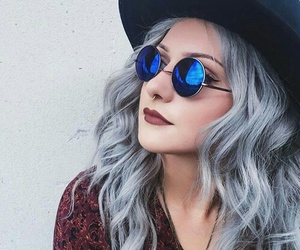 hair, sunglasses, and grunge image