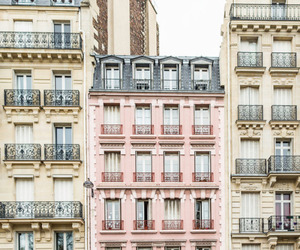 pink, city, and pastel image
