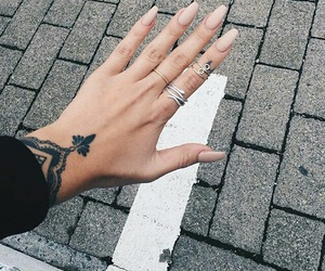 nails, tattoo, and accessories image