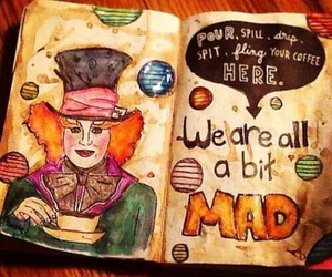 alice in wonderland, art, and journal image