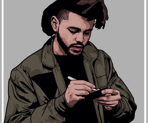 painting, xo, and the weeknd image