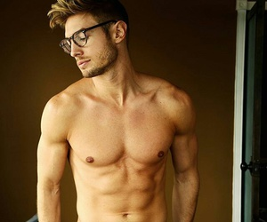 guy, muscle, and six-pack image