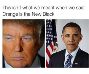 obama, funny, and trump image