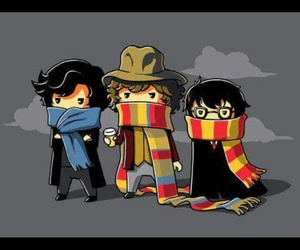 doctor who, harry potter, and sherlock holmes image