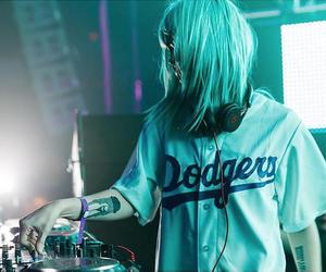 blue hair, dj, and music image