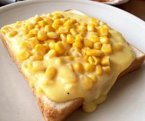 corn, food, and toast image