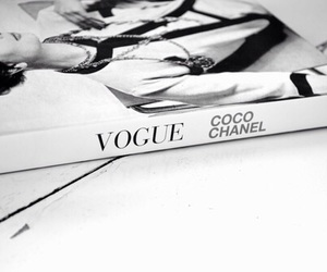 black and white, fashion books, and vogue coco chanel image